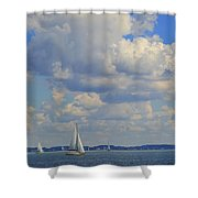 Sailing On Chiemsee Lake Shower Curtain