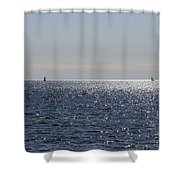Sailing On Lake Pontchartrain Shower Curtain