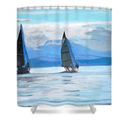 Sailing Race Shower Curtain