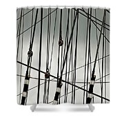 Sailing Rhythm Shower Curtain