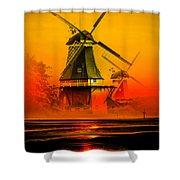 Sailing Romance Windmills Shower Curtain