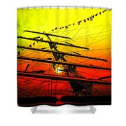 Sailing Romance 4 Shower Curtain