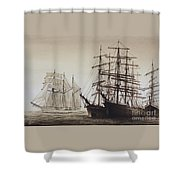 Sailing Ships Shower Curtain