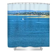 Sailing Solo Shower Curtain