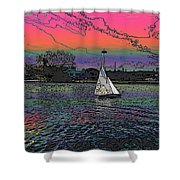 Sailing South Lake Union Shower Curtain