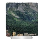 Sailing St Moritz Shower Curtain