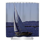 Sailing Stonington Harbor Shower Curtain