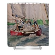 Sailing Teamwork Shower Curtain
