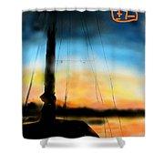 Sailing The Amalfi Coast Shower Curtain