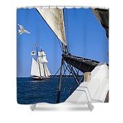 Sailing The Atlantic Shower Curtain