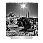 Sailing The Desert Shower Curtain