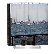 Sailing The Hudson River 1 Shower Curtain