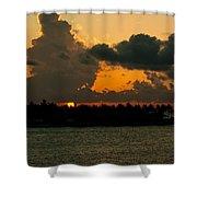 Sailing The Keys At Sunset Shower Curtain