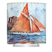 Sailing The Open Sea... Shower Curtain