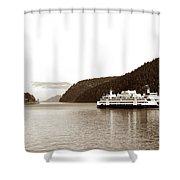 Sailing The San Juan Islands Shower Curtain by Lorraine Devon Wilke