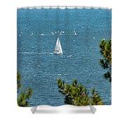 Sailing The Sea Of Marmara Shower Curtain