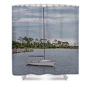 Sailing The Shoreline Shower Curtain
