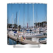 Sailing To The Golden Gate Shower Curtain