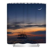 Sailing To The Moon 2 Shower Curtain