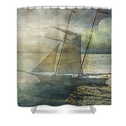 Sailing To The Moon Shower Curtain