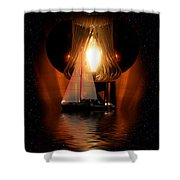 Sailing Under The Stars Shower Curtain