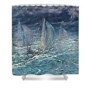 Sailing Vessel Shower Curtain