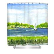 Sailing Wexford Shower Curtain