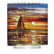 Sailing With The Sun Shower Curtain