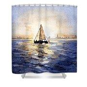 Sailor Eclipse Shower Curtain