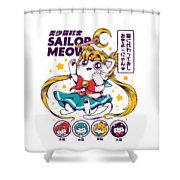 Sailor Meow Shower Curtain