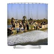 Sailors Racing Along The Euphrates Shower Curtain