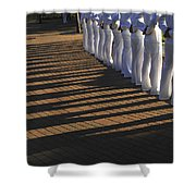 Sailors Stand At Parade Rest Shower Curtain
