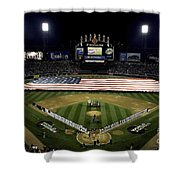 Sailors Unfurl The Stars And Stripes Shower Curtain