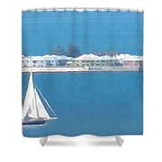 Sails In Bermuda Shower Curtain