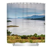 Sails On The Kyles Of Bute Shower Curtain