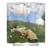 Saimi In The Meadow Shower Curtain