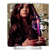 Saint Agnes And The Holy Spirit Shower Curtain