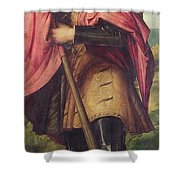 Saint Alexander A Panel From The Altarpiece The Nativity With Saints Shower Curtain