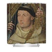 Saint Ambrose With Ambrosius Van Engelen   Shower Curtain