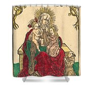 Saint Anne, The Madonna And Child, And A Franciscan Monk Shower Curtain