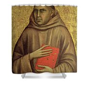 Saint Anthony Abbot Shower Curtain by Giotto di Bondone