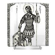 Saint Artemius Shower Curtain