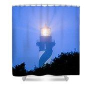 Saint Augustine Lighthouse In The Fog Shower Curtain
