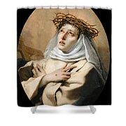 Saint Catherine Of Sienna Shower Curtain
