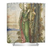 Saint Cecilia, Gustave Moreau Shower Curtain