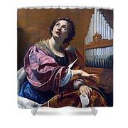 Saint Cecilia Shower Curtain