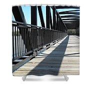 Saint Charles Walking Bridge Shower Curtain