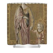 Saint Dorothy And The Infant Christ Shower Curtain