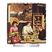 Saint Eligius In His Workshop Shower Curtain
