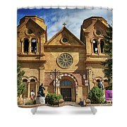 Saint Francis Cathedral Shower Curtain